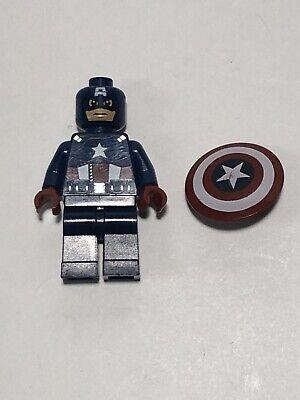 LEGO Minifigure CAPTAIN AMERICA Marvel Avengers Ultron Shield Super Hero Figure
