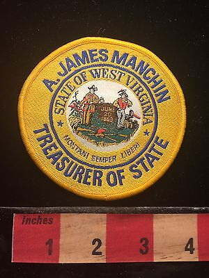 A. James Manchin Treasurer Of State West Virginia Patch in Office 1985-1989 S60B