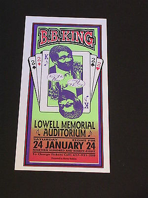 B.B. KING AT LOWELL MEMORIAL AUDITORIUM Psychedelic Postcard by MARK ARMINSKI