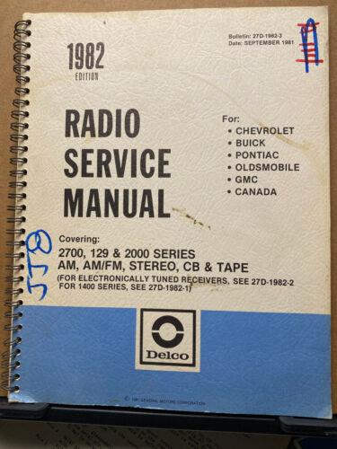 1982 Delco Radio Service Manual for Chevy Pontiac Buick Corvette GMC + Car