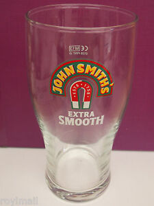 John Smiths extra smooth pint glass & beer mat
