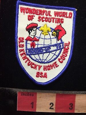 1970s Old Kentucky Home Council Wonderful World Of Scouting Patch 69NN
