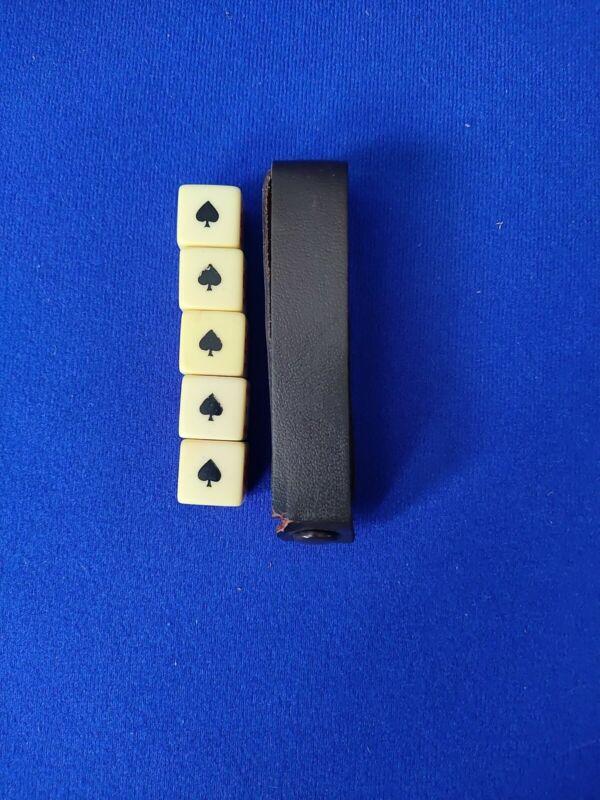 Vintage Bakelite Poker Dice