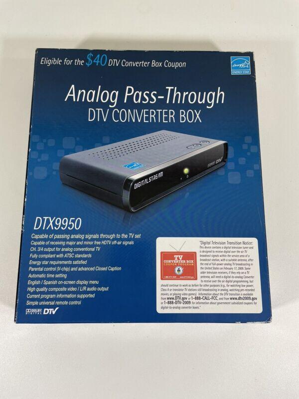 Digital Stream NHENS Analog Pass-Through DTV Converter Box NEW DTX9950