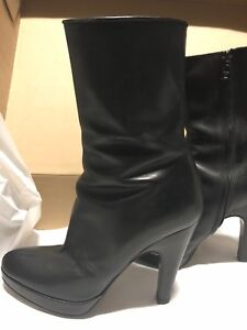 SOLD- Prada wedge mid ankle boot