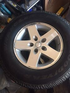 Goodyear Wrangler used tires 255 75 R17