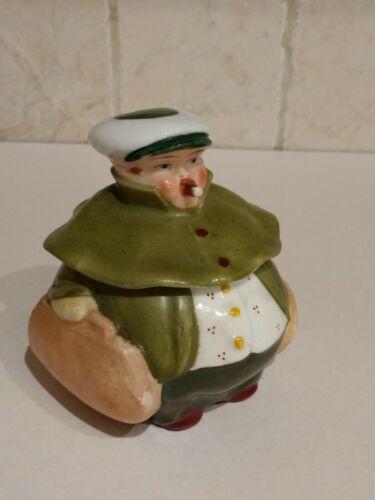 Antique Porcelain Figural Mustard Jar Germany Schwarzburg Roly Poly