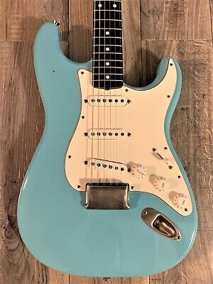 CGC Custom Shop '65 Fender Strat HARDTAIL Lg Head Closet Classic Daphne Blue USA