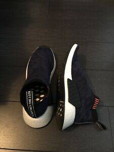 762d8329e1d18 NEW Adidas NMD CS2 Primeknit trainers Indigo  Black  White