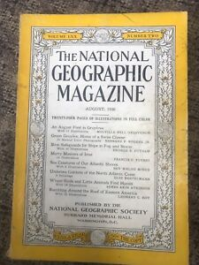 Old national geographic magazine