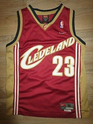 LeBron James #23 Cleveland Cavaliers NBA Finals Nike Jersey Youth SM 6-8 child