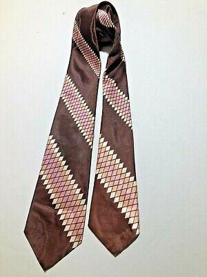 1950s Men's Ties, Bow Ties – Vintage, Skinny, Knit VINTAGE 1940's-1950's GOLD CRAFT by ROBERT WARWICK #17824 STRIPE TIE NECKTIE  $9.50 AT vintagedancer.com