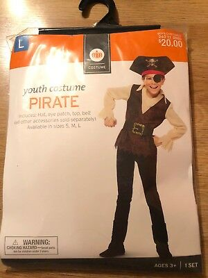 Youth PIRATE HALLOWEEN COSTUME youth size large (Youth Pirate Costume)