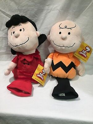 NEW - Peanuts  Novelty Golf Driver Headcover - Charlie Brown and Lucy - Novelty Golf Headcover