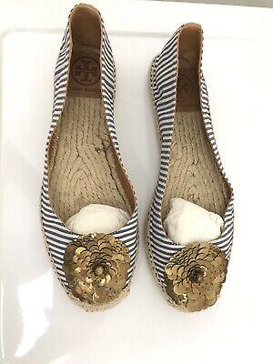 Tory Burch. Espadrille Canvas Shoes,7B