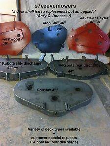 RIDE ON MOWER CUTTING DECKS Countax/Westwood/kubota/Hayter/Atco/Toro/wheelhorse/