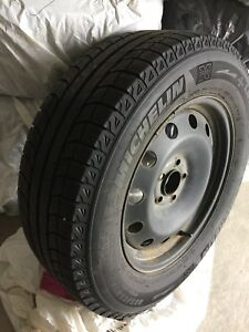 235x65xR17 Michelin X Ice Winter Tires with Rims