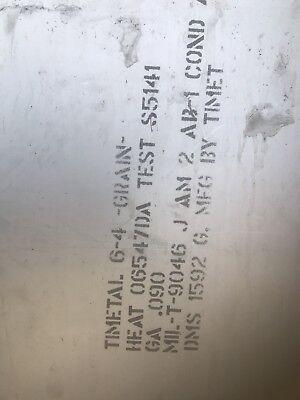.090 X 18 X 30 6al-4v Titanium Sheet