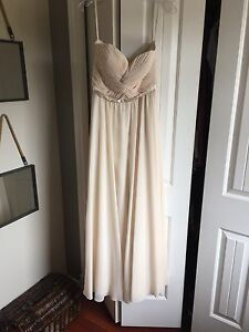 New Sweetheart Strapless Gown in Champagne Chiffon