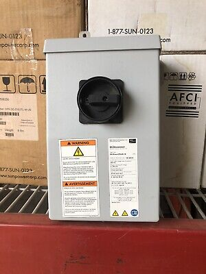 New Nos Sunpower Dc-disconu Spr-dc-dis2tl-m-us. Disconnect Switch 0-600vdc