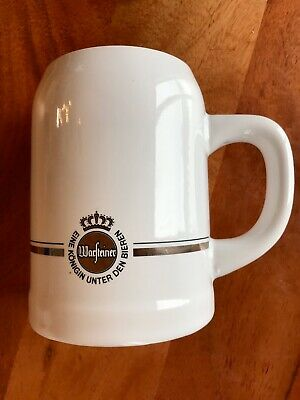 Warsteiner 0.5L White Ceramic Rastal Beer Stein Mug
