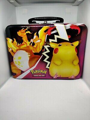 Pokemon Collectors Chest Tin Fall 2020   Pikachu & Charizard VMAX just lunchbox