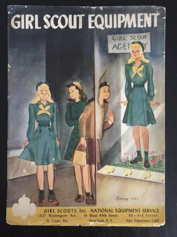 RARE 80 YEARS OLD! VINTAGE GIRL SCOUT EQUIPMENT CATALOG - SPRING EDITION 1941