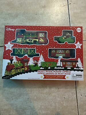 Disney Mickey Mouse Holiday Express 12 Piece Christmas Train Set New the child
