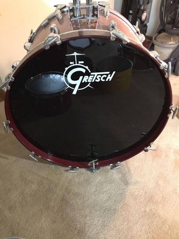 RARE 1970s Gretsch Red Rosewood Bass Drum