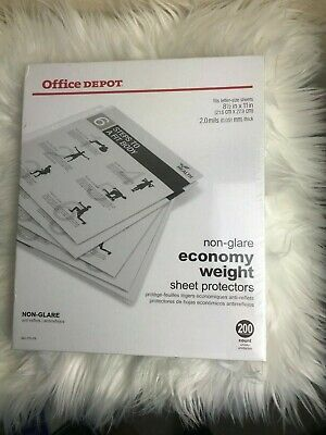 Office Depot Economy Weight Sheet Protectors 8 12 X 11 Clear 200-pack