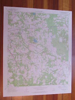 Jacksonville East Texas 1976 Original Vintage USGS Topo Map