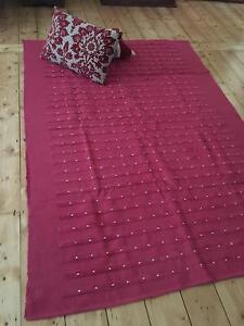 RUG LARGE TEXTURED BEACH HOUSE MAROON/RED NEW Carnegie Glen Eira Area Preview