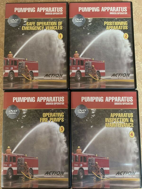 Action Training Systems Pumping Apparatus 4 Dvd Set. Firefighter Training