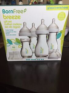 glass baby bottle set