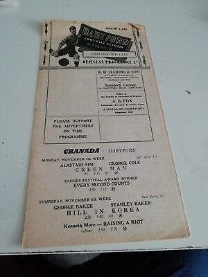 Dartford  v Chelmsford City 3/11/56