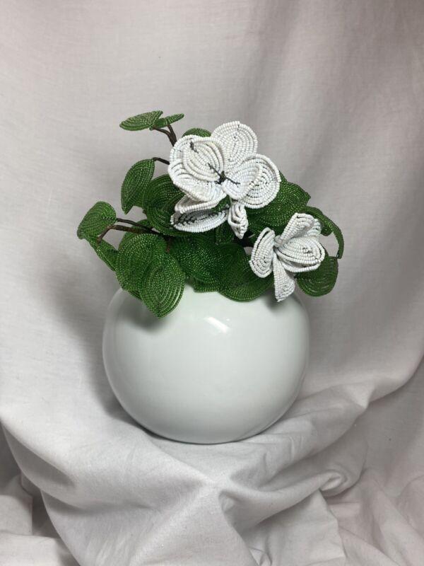 "Vintage Bo Jia for Middle Kingdom White Bulbous 5 3/8"" Vase"