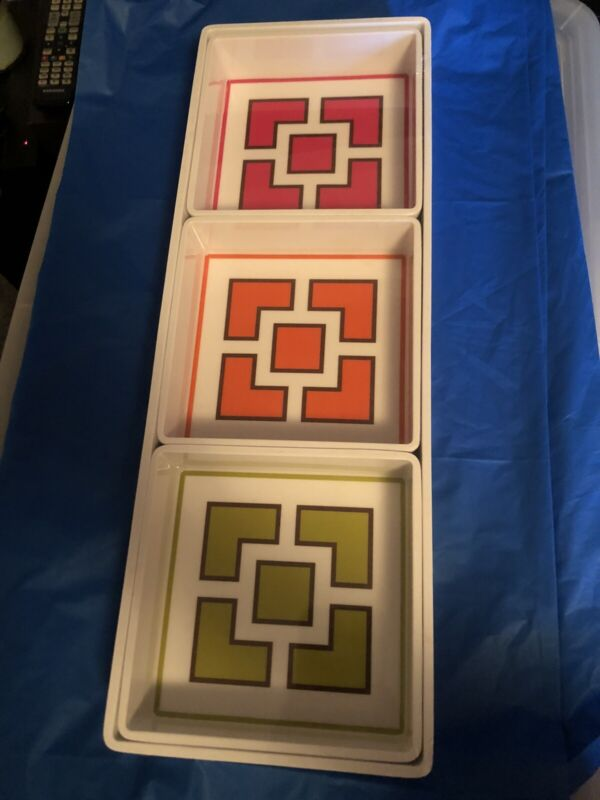 Jonathan Adler  4 Piece Set With Rectangle Tray And 3 Square Bowls  Nwt