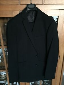 Men's pinned striped dark navy suit by Kenneth Cole Reaction