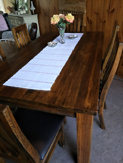 Timber dining room table 6chairs