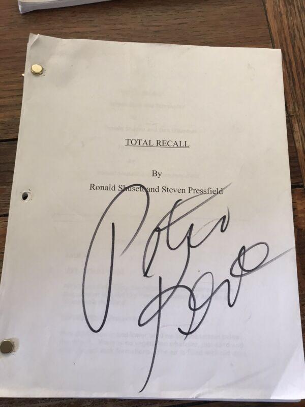 Total Recall Original Script Revision Rare Signed Peter Kent Stuntman Revision