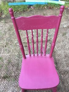 Small wood rocking chair