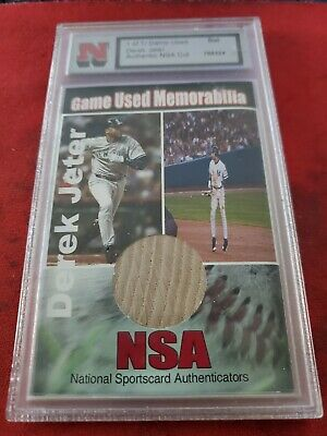 NSA Game used Derek Jeter bat card 1of 1