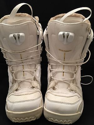 4b4efeef1c85 SALOMON Kiana White Womens Snowboard Boots Size 6.5 cm 24 UK 5 EUR38  Zone-Lock