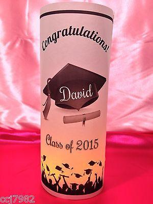 10 Personalized Graduation Luminaries Table Centerpieces Party Decorations #4 - Class Reunion Centerpieces