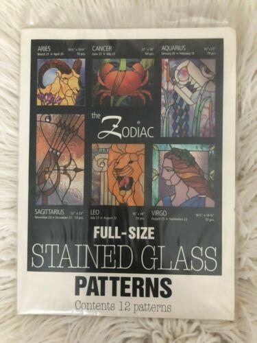 Sunlight Studios Zodiac Full Size Stained Glass Patterns 12 Patterns NIP