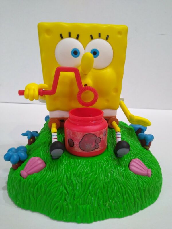 "RARE 2003 VIACOM  7"" SPONGEBOB SQUAREPANTS BLOWS BUBBLES Toy Collectibles"