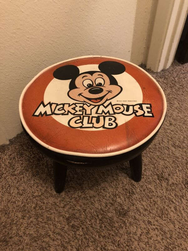 Vintage Walt Disney Mickey Mouse Club Foot Stool Collectible Chair