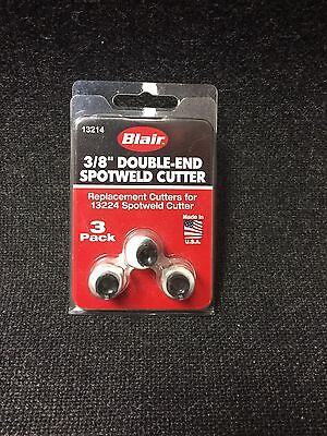 "Blair 13214 3-pk Double-End Spot weld Cutters Replacement 3/8"" (BLR13214)"