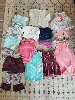 Baby Girls Clothes/Outfits/Sleepers Lot of 18,  6-12 Month
