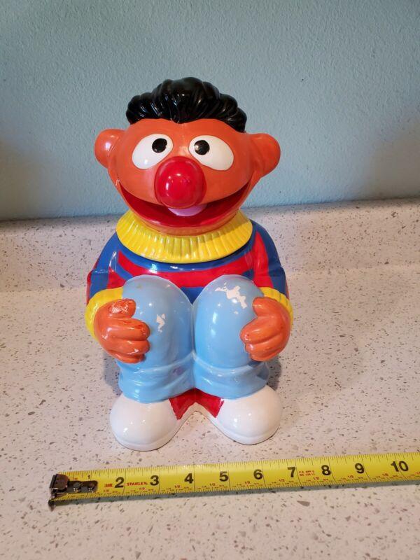 Vintage Muppet Inc Cookie Jar Sesame Street Ernie Clown Jim Henson Ceramic 70
